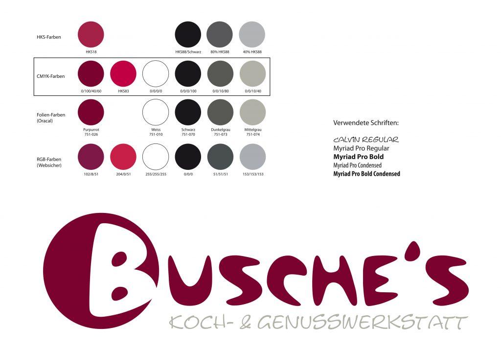 Corporate Design Busches Kochwerkstatt