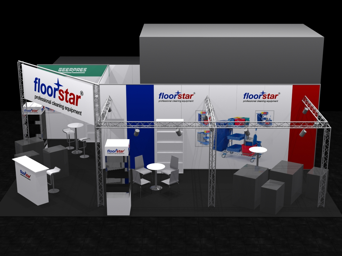 Layout Floorstar Messestand