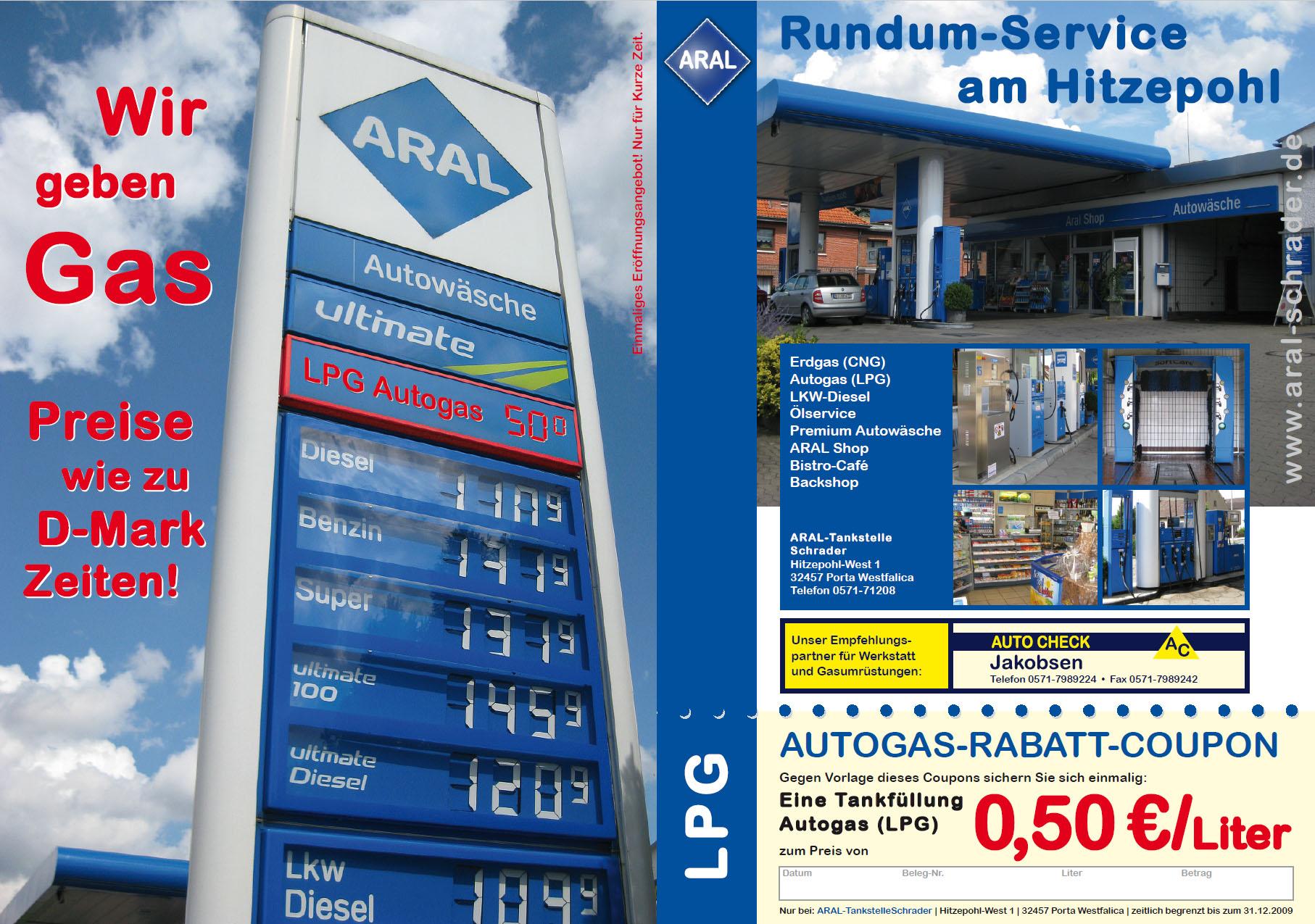 ARAL Schrader Handzettel
