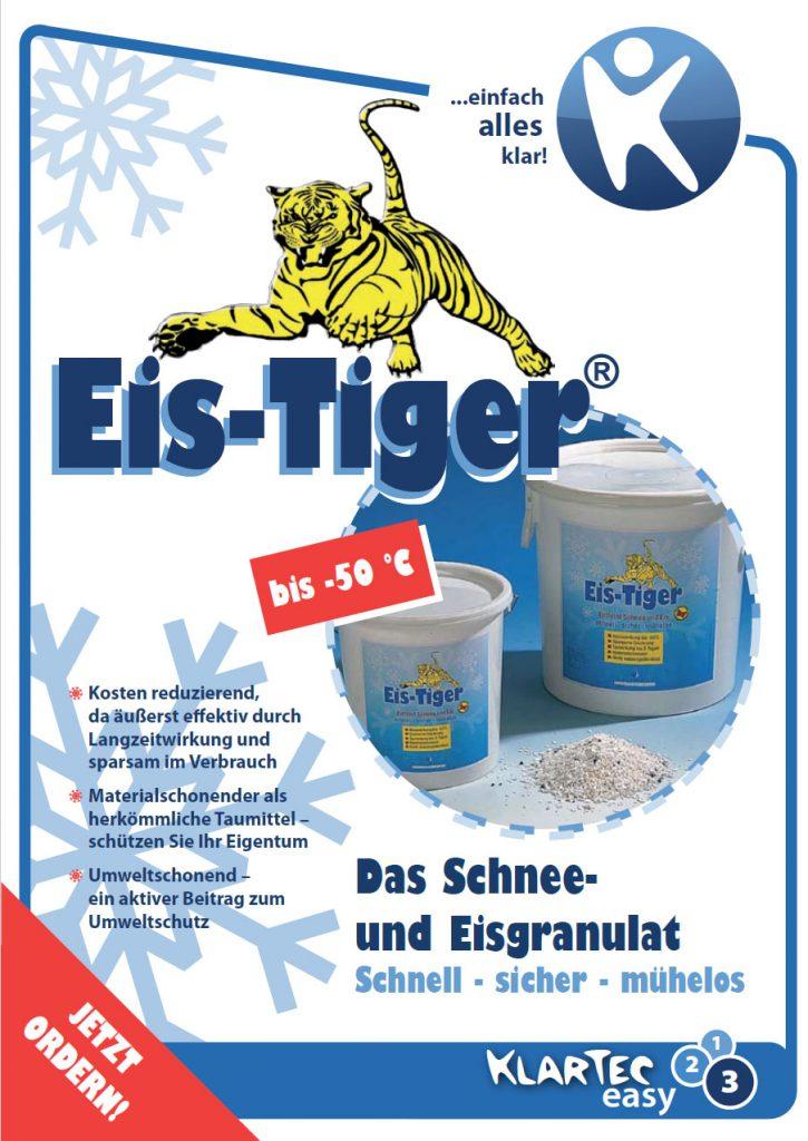 Eis-Tiger Handzettel