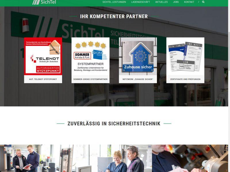 Webseite SichTel