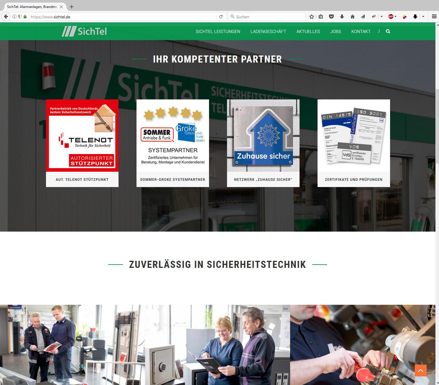 SichTel Webseite