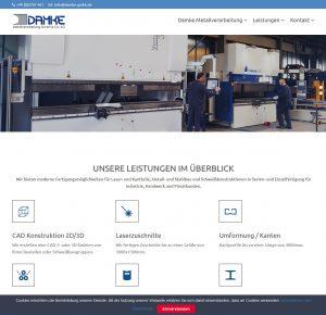 Damke Metallverarbeitung Webseite