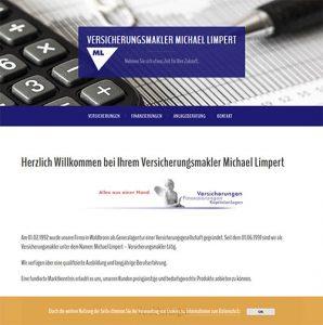 Limpert Versicherungen Webseite