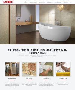 Lachnitt Fliesenstudio - Webdesign